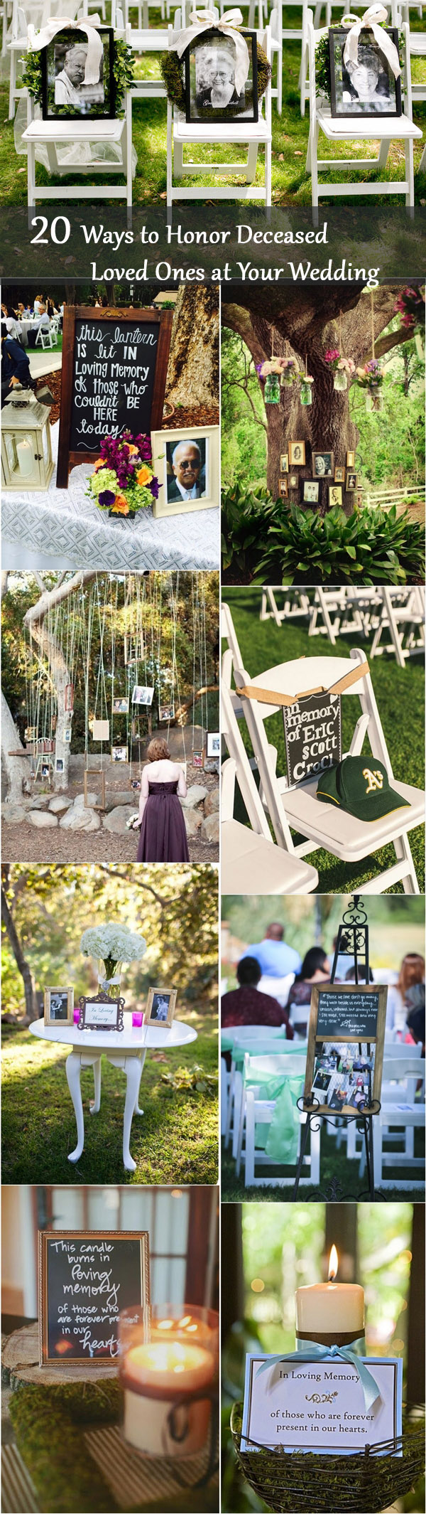 unique wedding ideas to honor lost loved ones