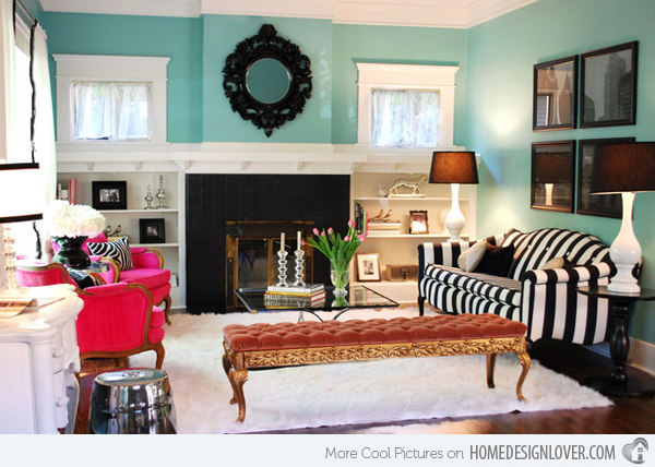 15 Scrumptious Turquoise Living Room Ideas - Decor10 Blog