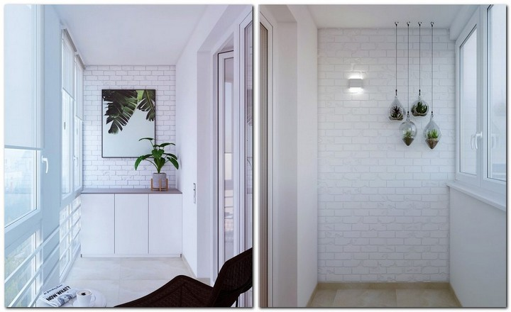 4-2-contemporary-style-interior-design-small-balcony-loggia-recessed-white-walls-faux-bricks-suspended-flower-pots-storage-cabinet-cozy-nook-coffee-table