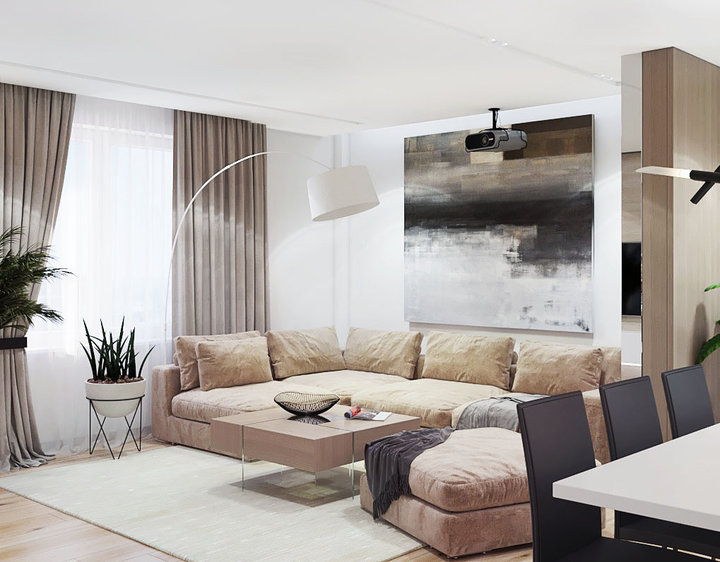 contemporary style living room.  6 2 contemporary style living room lounge interior Relaxing Contemporary Style Family Apartment in Beige Gray