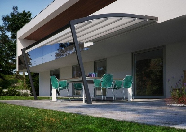 Marvelous Aluminum Factory Covering Modern Sunscreen Roof Ideas