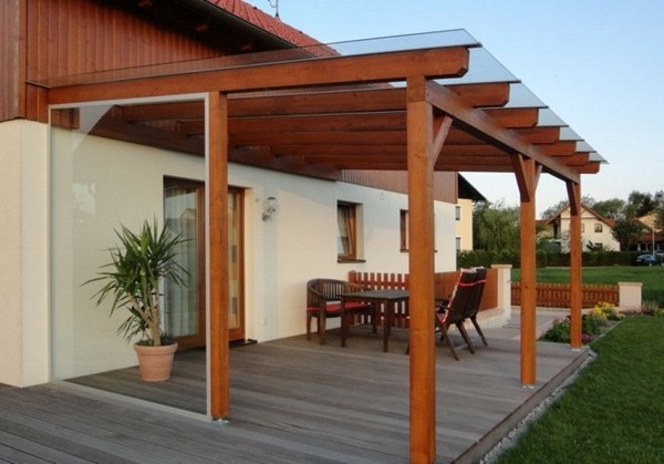 Canopy folding roof balcony pergola