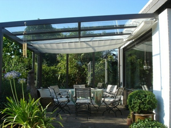 Canopy glass Lawn Garden way