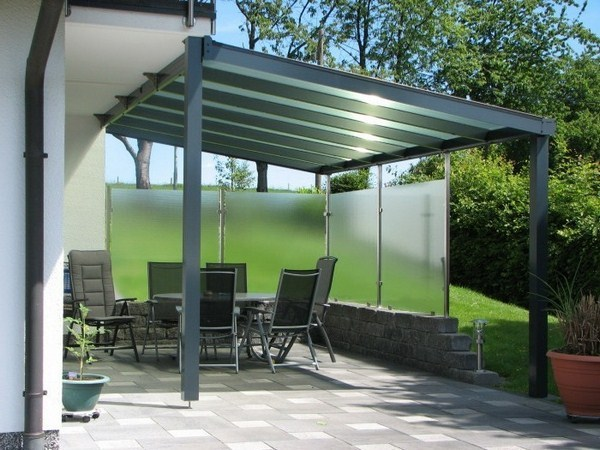 Canopy glass garden walk garden garniture
