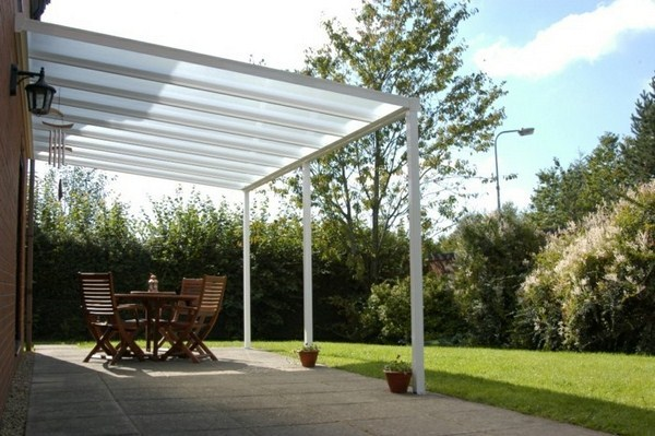 Canopy glass sunshade awning