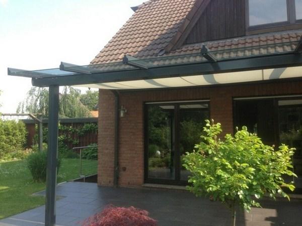 Canopy glass wall tiling aluminium