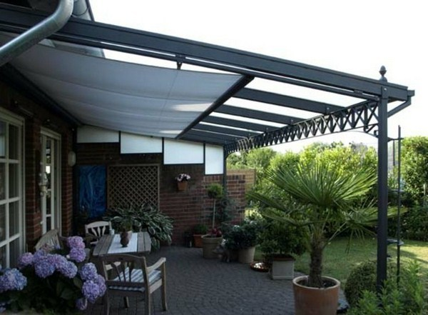 Canopy pergola roof awning for winter garden with sliding doors