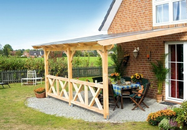 High Quality Garden Pergola Roof Terrace Roof Wood