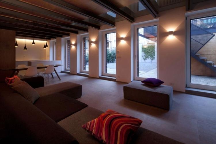 Large-format-house-design-living-room-simple-furniture