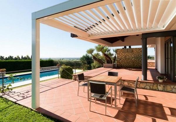 Sunscreen roof metal frame house aluminum material