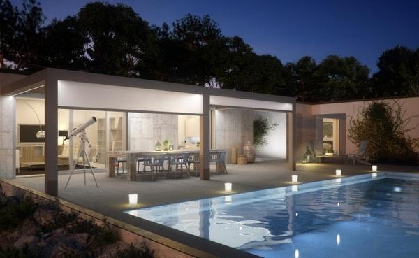 Sunscreen roof of modern lighting blinds