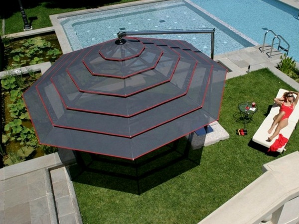 Sunscreen roof parasol modern stainless steel