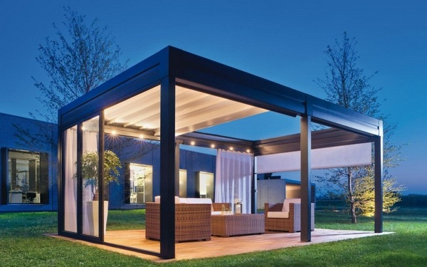 Sunscreen roof shades of windshield Pergola