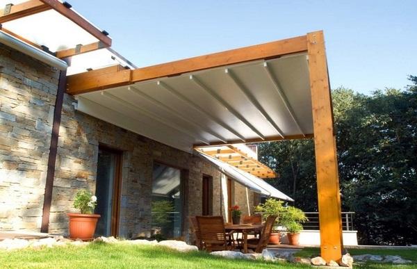 Sunscreen roof wooden frame ideas