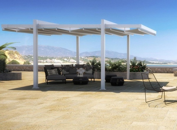 Sunscreen wooden Pergola patio roof frame