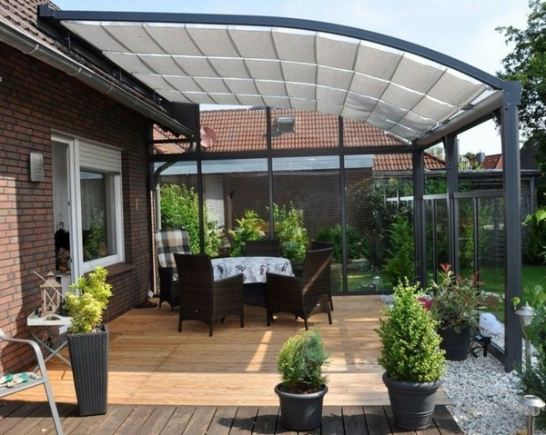 Terrace canopy ALU Highline glass