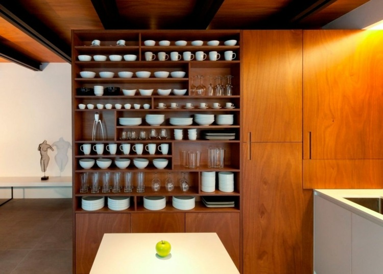 Tile-large-format-cabinet-open-wood-natural-material-furnishings