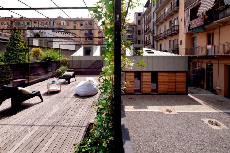 Tile-large-format-terraced-weathered-wood-gray-pergola-metal