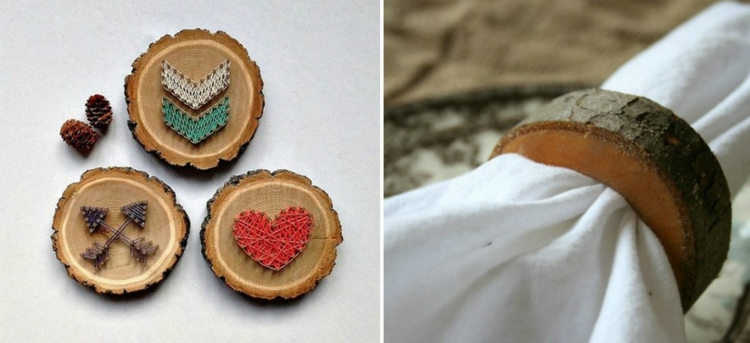 decoration wood disks of nails of motives organization napkin ring inspiration