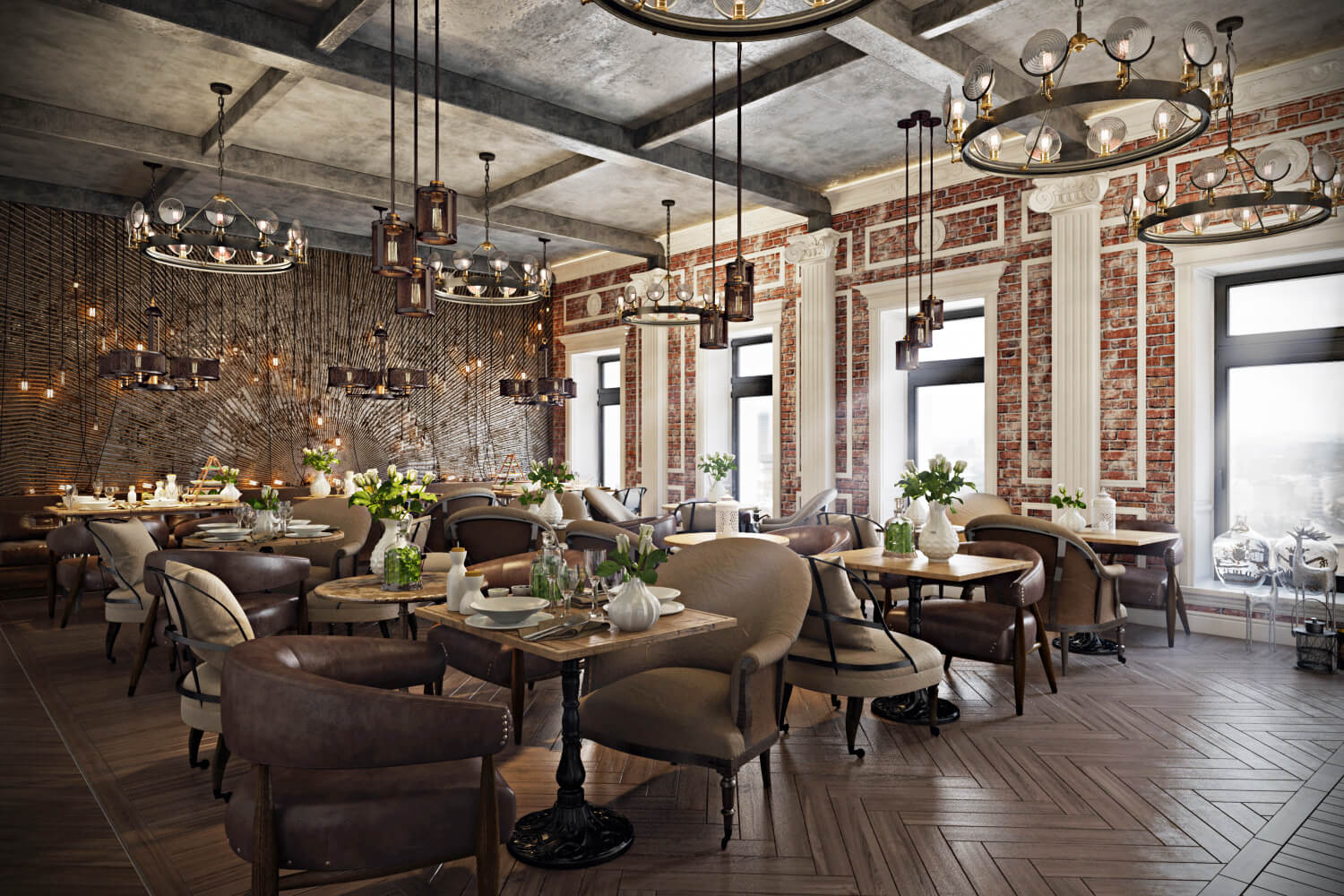 Stunning restaurant interior design the chic of original for Stunning interior designs