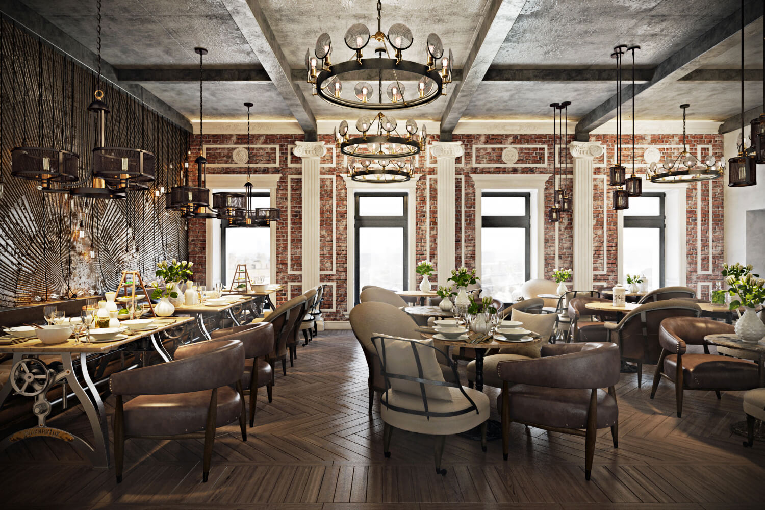stunning restaurant interior design the chic of original - decor10