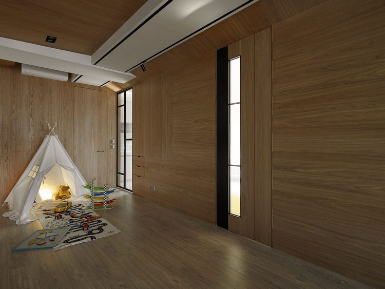 timber-cladding-inside-multifunctional-area-sliding-doors