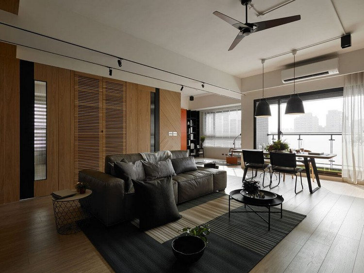 timber-cladding-inside-open-dwelling-apartment-range-dining-area