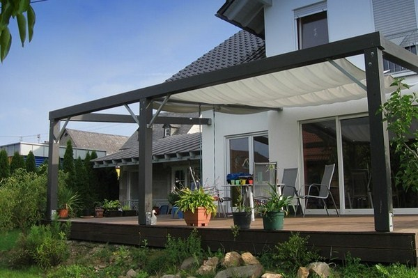 wood Pergola terrace roof house modern