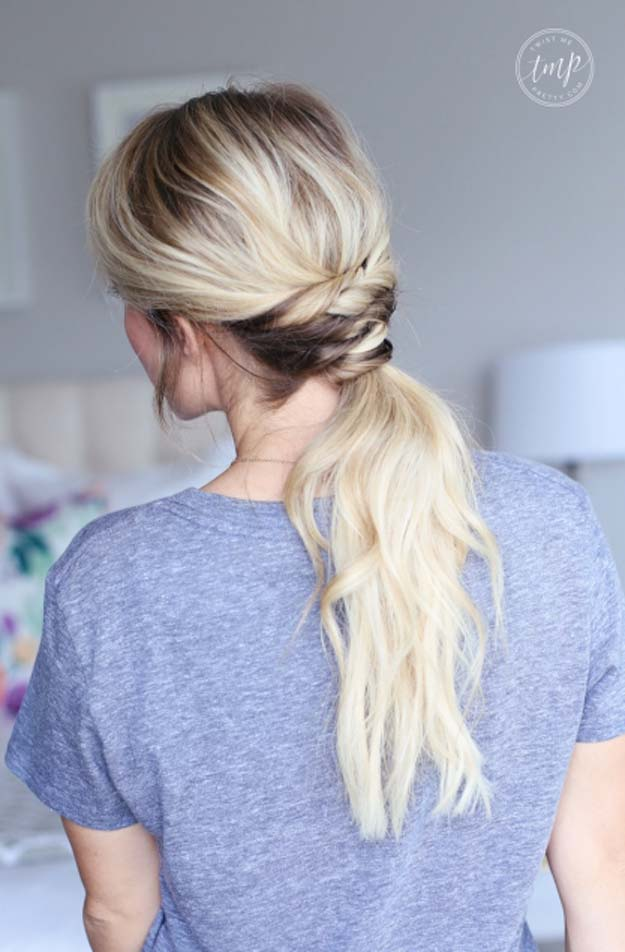 Cool and Easy DIY Hairstyles - Twisted Ponytail - Quick and Easy Ideas for Back to School Styles for Medium, Short and Long Hair - Fun Tips and Best Step by Step Tutorials for Teens, Prom, Weddings, Special Occasions and Work. Up dos, Braids, Top Knots and Buns, Super Summer Looks http://diyprojectsforteens.com/diy-cool-easy-hairstyles