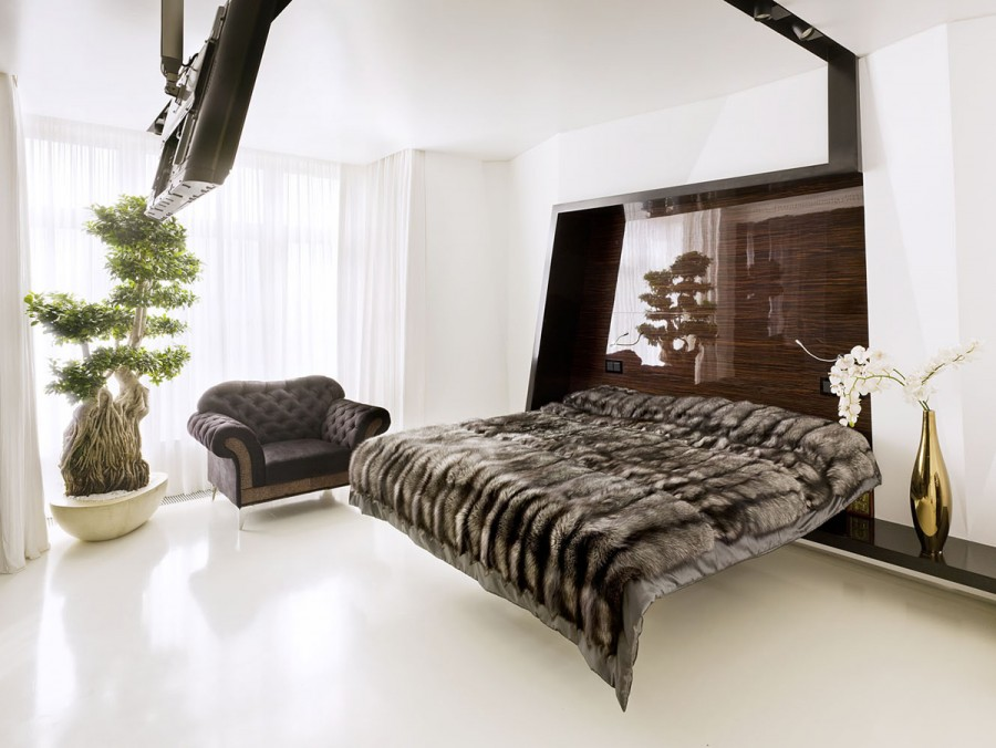 Luxury small bedroom idea from Alexandra Fedorova