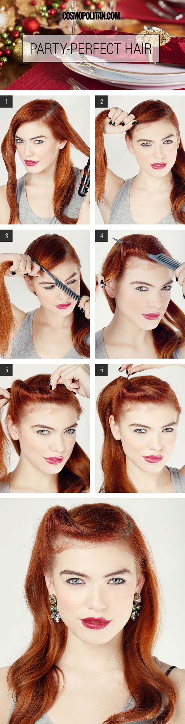 Cool and Easy DIY Hairstyles - Party-Perfect Glam Roll - Quick and Easy Ideas for Back to School Styles for Medium, Short and Long Hair - Fun Tips and Best Step by Step Tutorials for Teens, Prom, Weddings, Special Occasions and Work. Up dos, Braids, Top Knots and Buns, Super Summer Looks http://diyprojectsforteens.com/diy-cool-easy-hairstyles