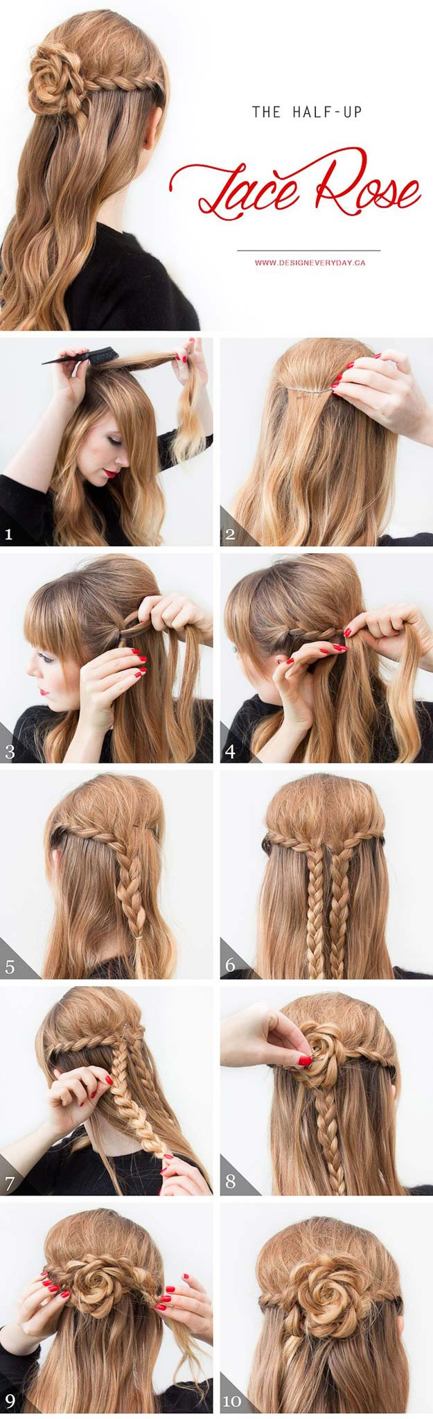 41 DIY Cool Easy Hairstyles That Real People Can Actually Do at ...