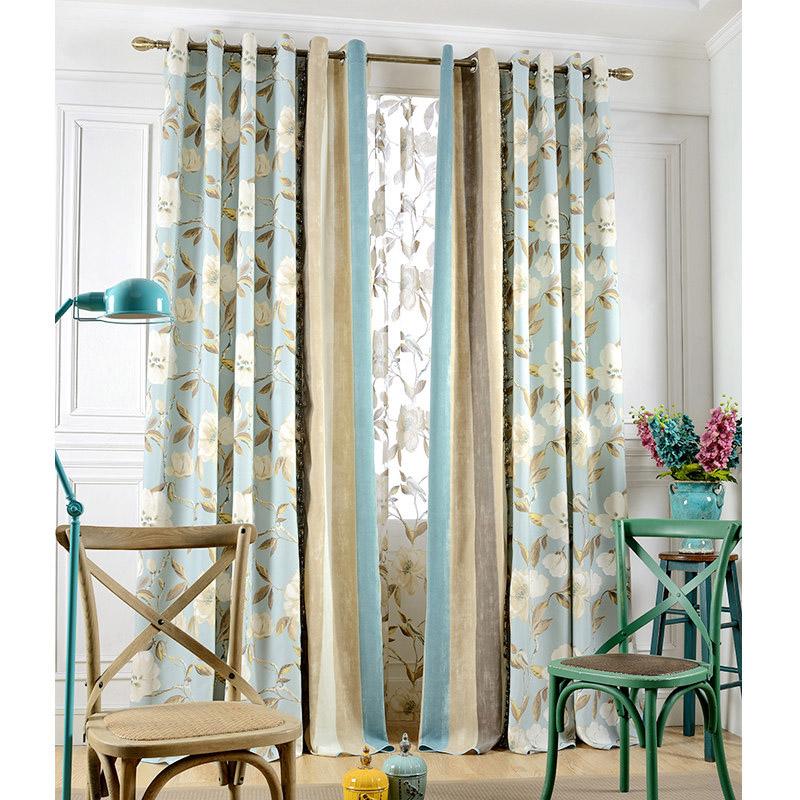 Blue Floral Curtains