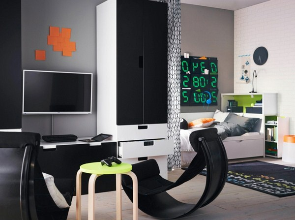 Better homes and gardens ideas the interior in black for Ikea teenage bedroom ideas