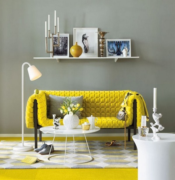 Living ideas with A cool charisma yellow
