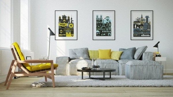 Living ideas with A cool design yellow 1