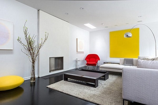 Living ideas with A cool features yellow