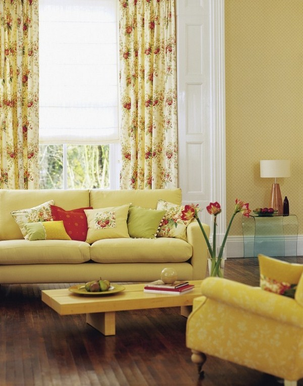 Living ideas with yellow A cool decision