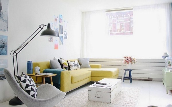 Living ideas with yellow A cool decoration