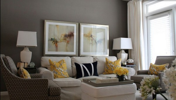 Living ideas with yellow A creative decoration