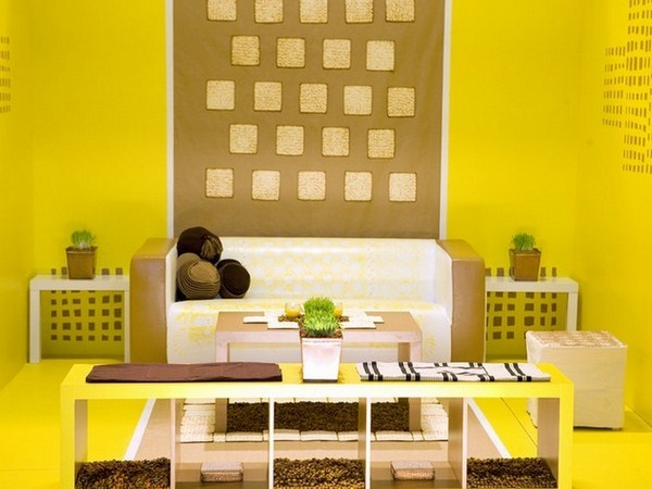 Living ideas with yellow A creative design