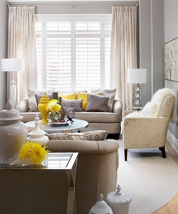 Living ideas with yellow A striking decoration