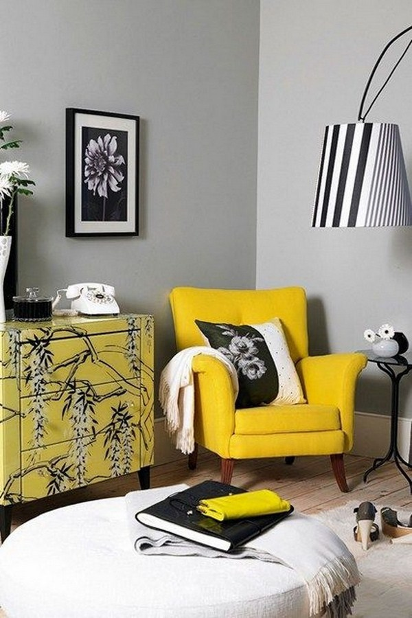 Living ideas with yellow A super atmosphere