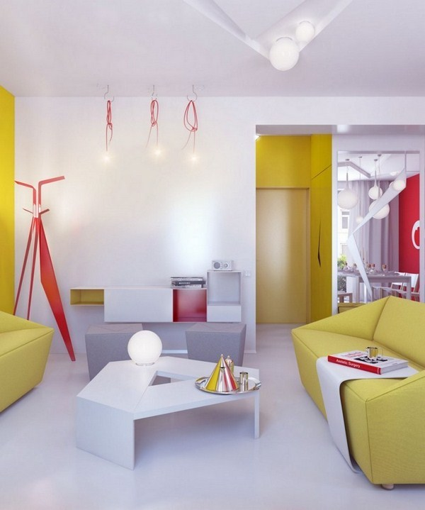 Living ideas with yellow A super decoration