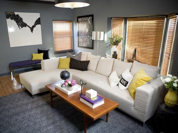 Living ideas with yellow eye-catching design idea