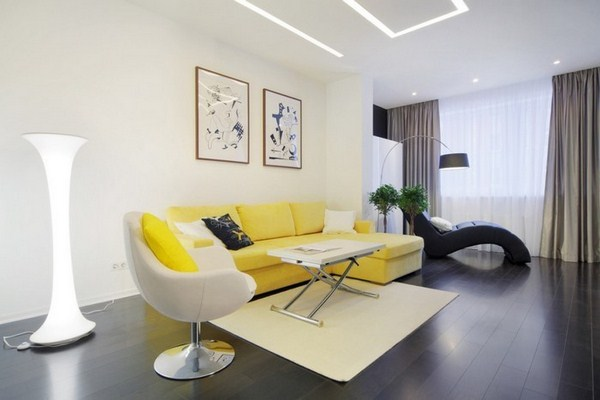 Living ideas with yellow modern decoration
