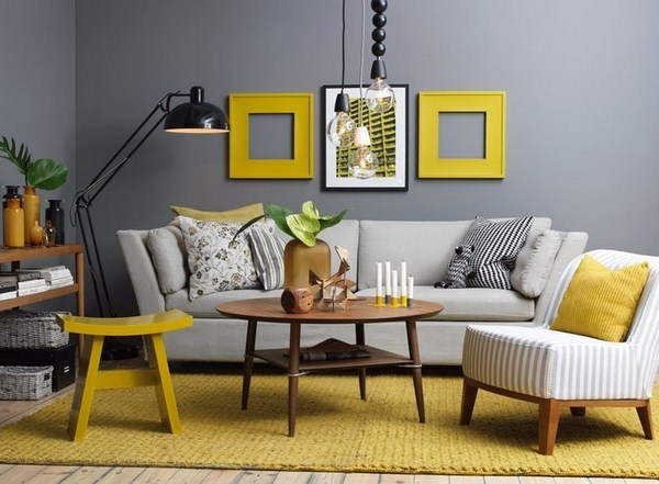 Living ideas with yellow showy decision