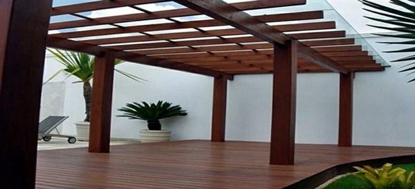 Pergola wood wood flooring