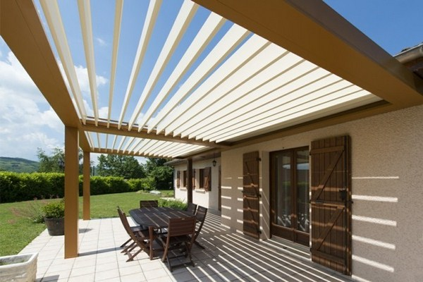 Pergola wooden front yard design