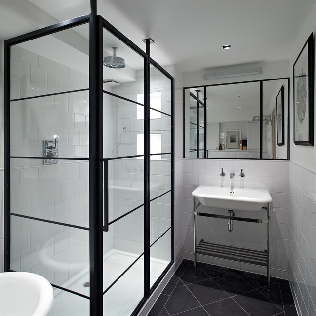 Shower With Black Frame